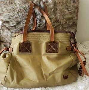 Dooney & Bourke All Sateen Khaki Shoulder Bag